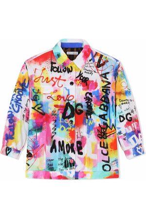 Dolce & Gabbana DG graffiti-print denim jacket