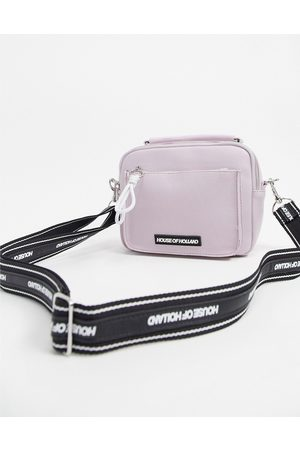 House of Holland Cross Body Bag With Strap In Lilac-Purple
