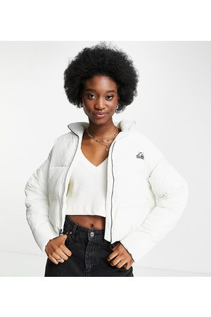 Quiksilver Cropped puffer jacket in white Exclusive at ASOS