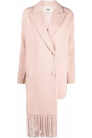 Fendi FF Karligraphy motif double-breasted coat