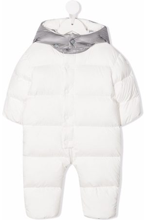 Moncler Logo print padded snowsuit