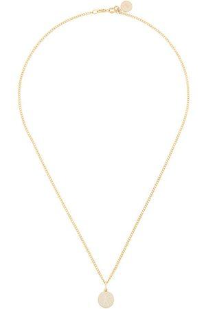 Karen Walker 9kt Runaway Stamp pendant necklace