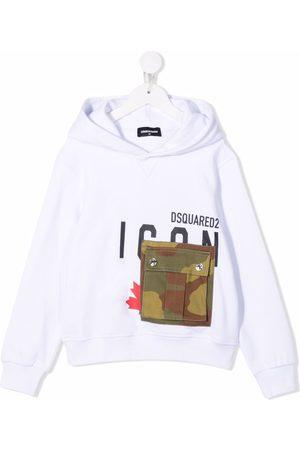 Dsquared2 Camo-pocket oversize hoodie