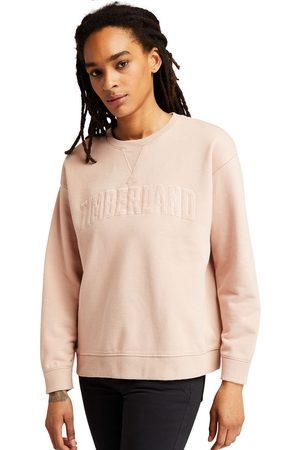 Timberland Ecoriginal Corduroy Logo Sweatshirt Voor Dames In Lichtroze Lichtroze, Grootte L