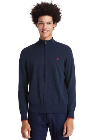 Timberland Williams River Sweater Met Rits Aan Voorkant In Marineblauw Marineblauw Heren, Grootte M