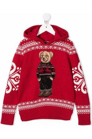 Ralph Lauren Meisjes Sweaters - Polo Bear hooded jumper
