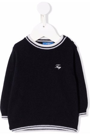 FAY KIDS Embroidered-logo jumper