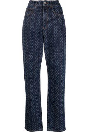 M Missoni Zig-zag wide-leg jeans