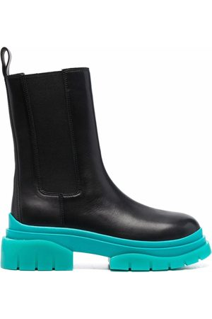 Ash Contrasting-sole leather boots