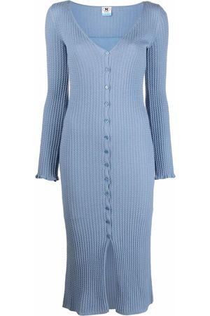 M Missoni Dames Gebreide jurken - Knitted button dress