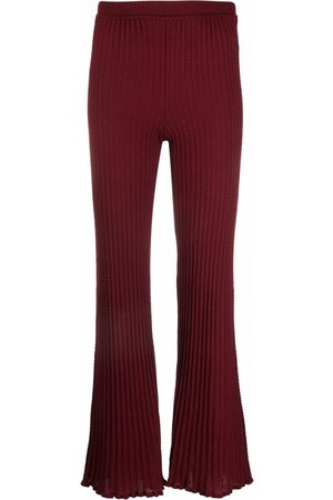 M Missoni Knitted flared trousers