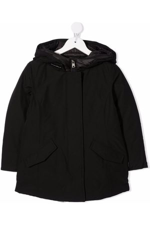 Woolrich Hooded feather-down cotton-blend coat