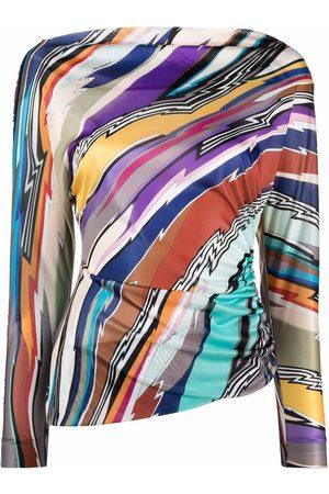Missoni Dames Blouses - Stripe pattern asymmetric blouse