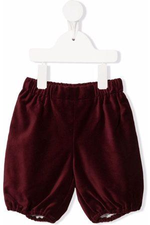 LA STUPENDERIA Shorts - Ruched velvet shorts