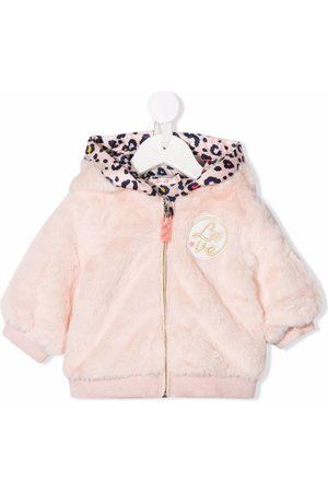 Billieblush Embroidered-Love hooded jacket