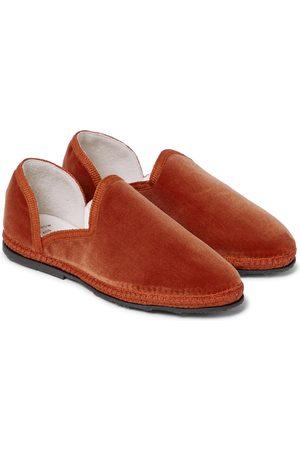 The Row Kids Friulane velvet loafers