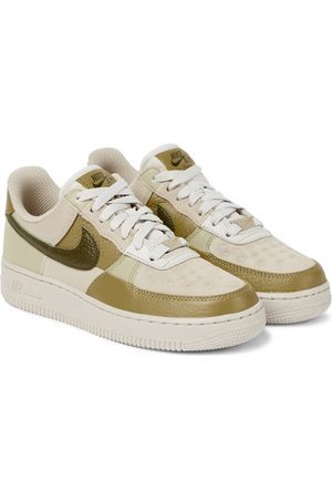 Nike Air Force 1 suede and leather sneakers
