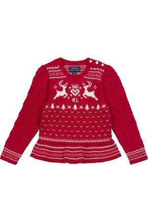 Polo Ralph Lauren Kids Fair Isle cotton-blend sweater