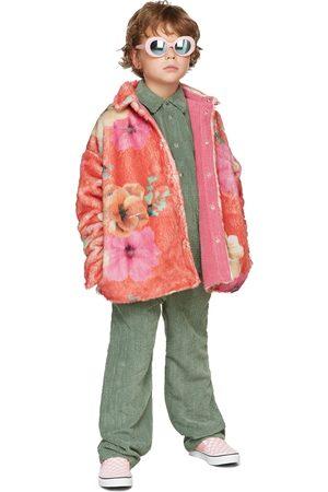BO(Y)SMANS Donsjassen - Kids Reversible Pink Faux-Fur & Corduroy Jacket