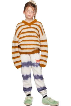 The Animals Observatory Sweaters - Kids Off-White & Brown Stripes Toucan Sweater