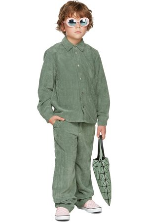 BO(Y)SMANS T-shirts - Kids Green Corduroy Shirt