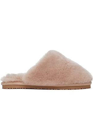 Mou Dames Slippers - Pink Closed Toe Sheepskin Slippers