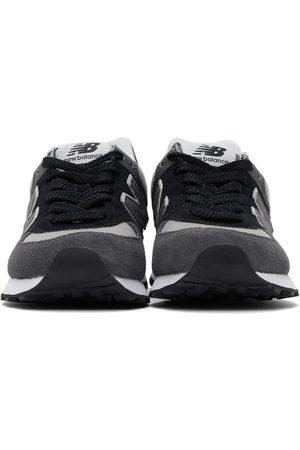 New Balance Black & Grey 574 Sneakers