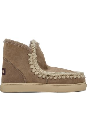 Mou Grey Suede Sneaker Boots