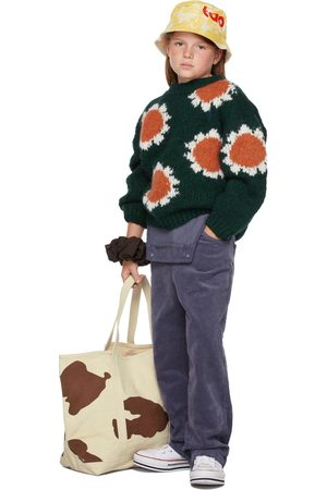 The Animals Observatory Kids Green Flowers Bull Sweater