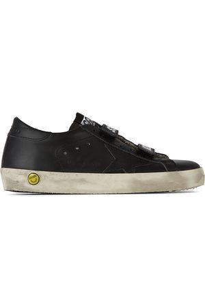 Golden Goose Kids Black Old School Velcro Sneakers