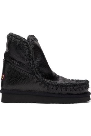 Mou Black Spiral Ankle 18 Boots