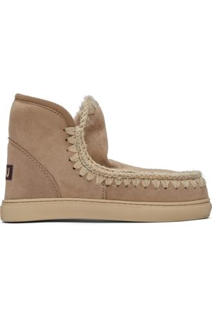 Mou Pink Suede Sneaker Boots