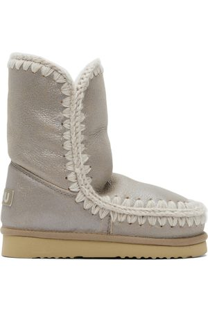 Mou Grey Metallic Suede 24 Boots