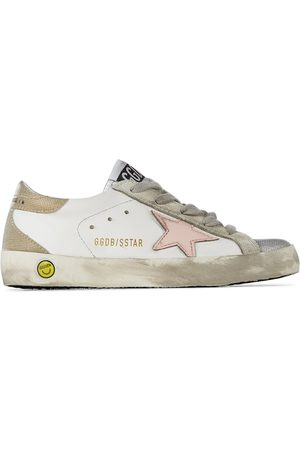 Golden Goose Kids White Super-Star Classic Spur Sneakers