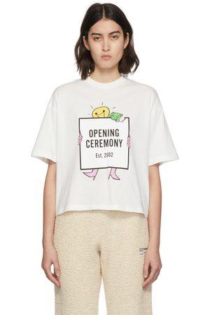 Opening Ceremony White Logo Cropped T-Shirt