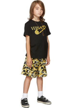 VERSACE Kids Black & Gold Baroccoflage Shorts