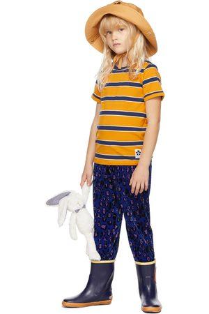 Mini Rodini Kids Orange & Navy Stripe T-Shirt
