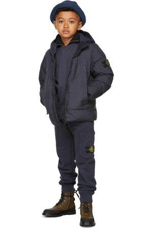 Stone Island Kids Navy Down Crinkle Reps NY Jacket