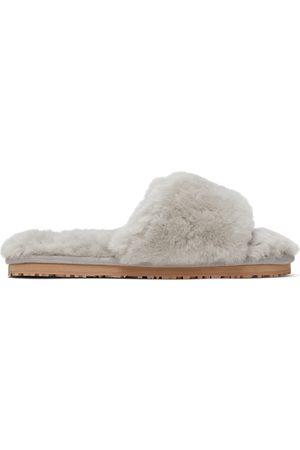 Mou Grey Sheepskin Slides