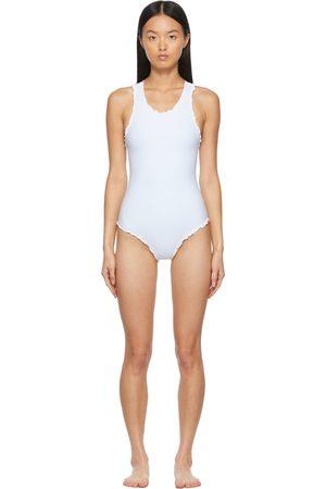Sherris White Racerback One-Piece Swimsuit