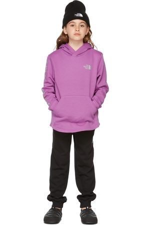 The North Face Kids Purple Camp Fleece Pullover Hoodie