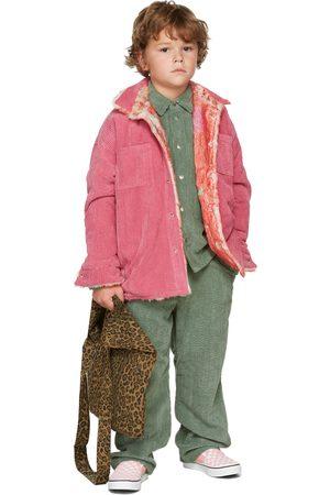 BO(Y)SMANS Kids Green Corduroy Trousers