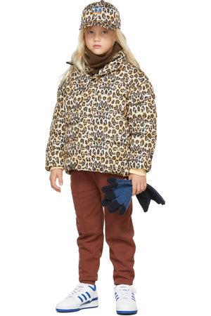 Repose AMS Kids Beige & Black Leopard Glitch Puffer Jacket