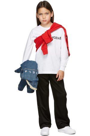 MM6 MAISON MARGIELA Kids White Reverse Logo Long Sleeve T-Shirt