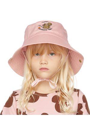 Mini Rodini Kids Pink Squirrel Bucket Hat