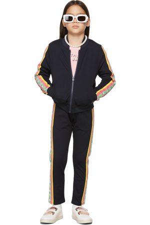Marc Jacobs Kids Navy 'The Track Jacket' Zip-Up Jacket