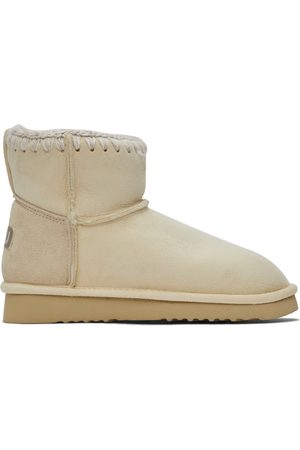 Mou Off-White Suede Classic Boots