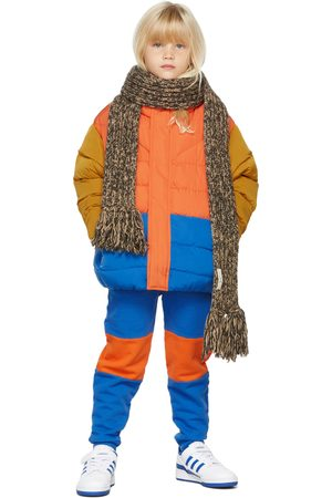 Repose AMS Kids Red & Blue Color Block Puffer Jacket