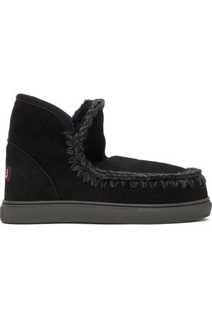Mou Black Suede Sneaker Boots