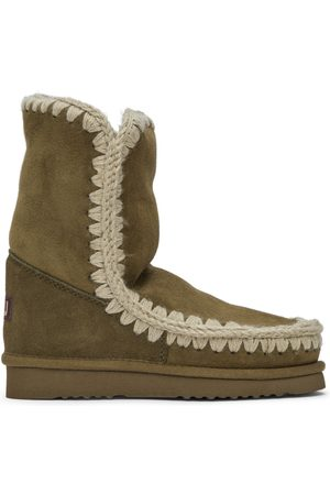 Mou Green Suede Ankle 24 Boots